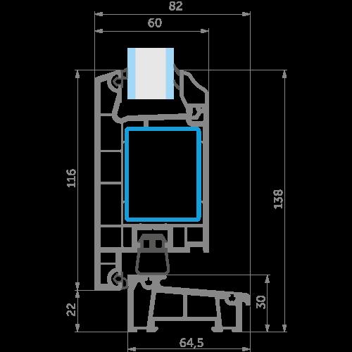 Точне зображення дверної профільної системи WDS 60 від EKIPAZH. Вигідні умови партнерства