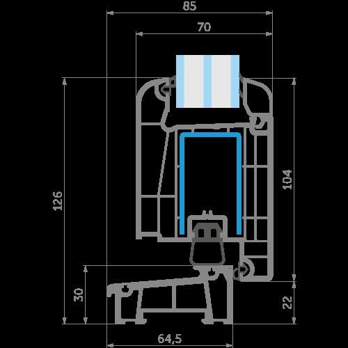 Креслення дверної профільної системи WDS 70 від EKIPAZH. Зручні умови для партнерства