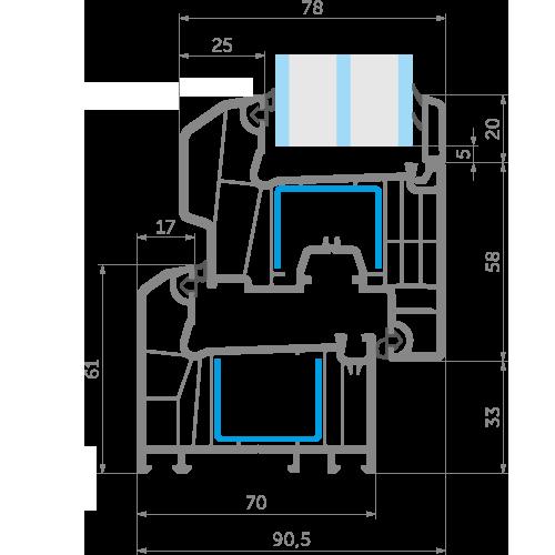 Креслення ексклюзивної профільної системи EKIPAZH Ultra 7