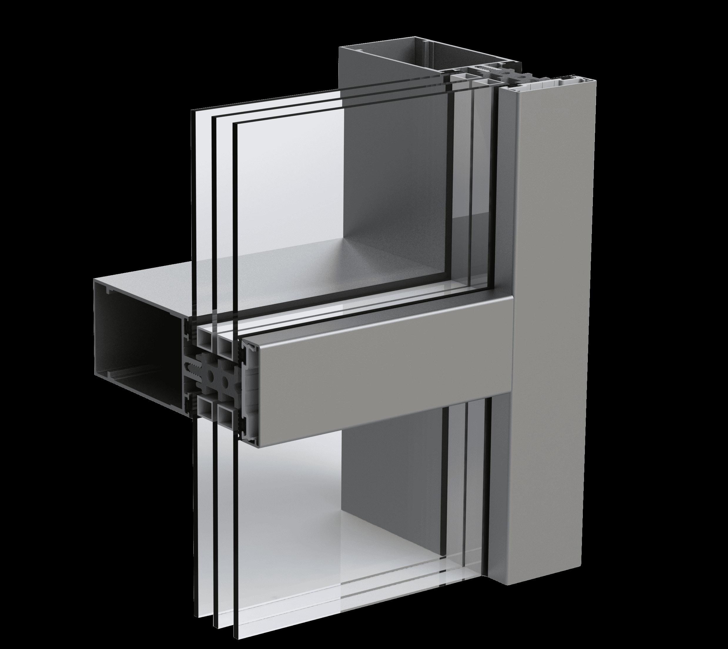 Тепла стійко-ригельна алюмінієва фасадна система Hoffman F50 від EKIPAZH. Вигідні умови партнерства