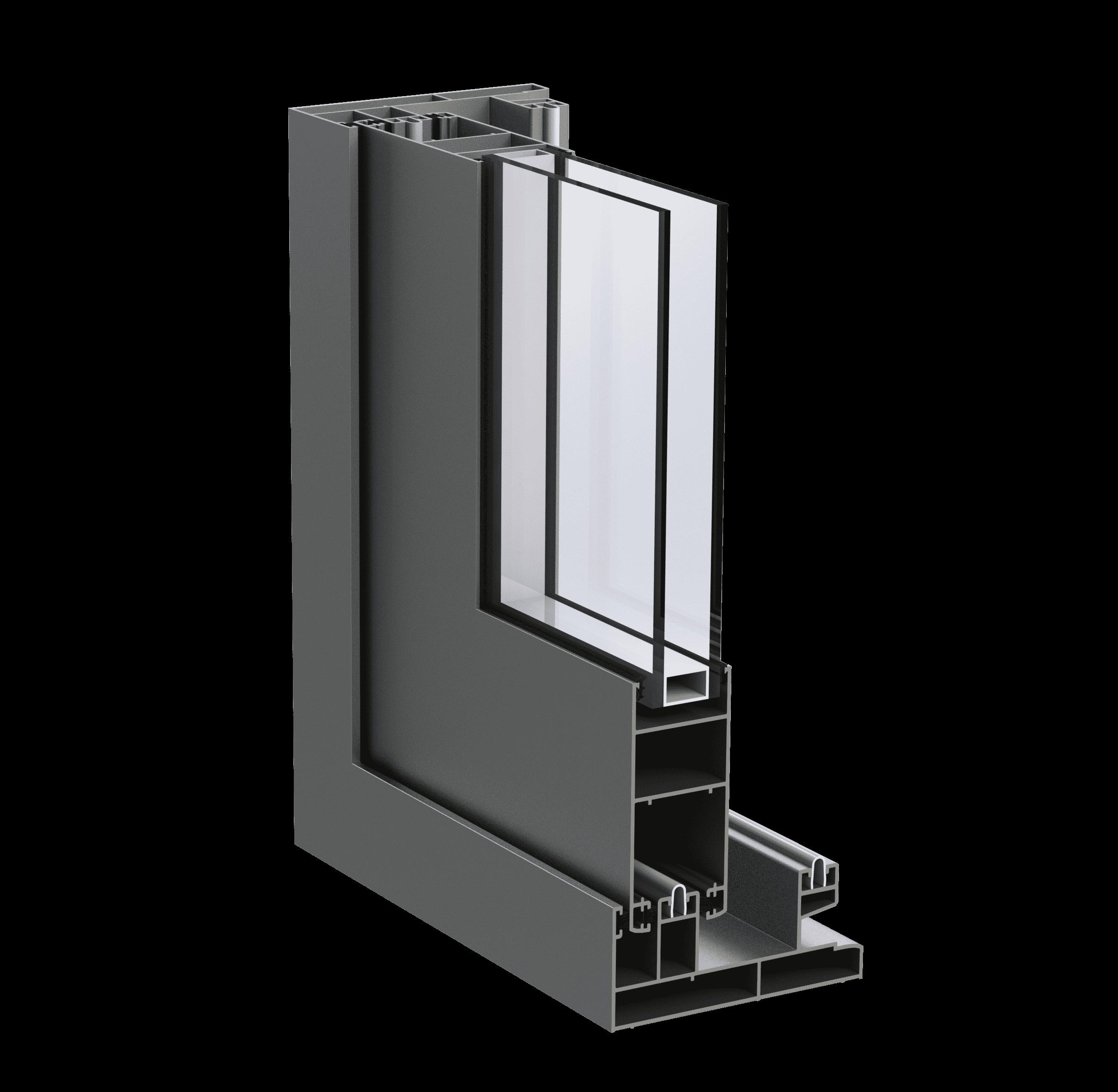 Розсувна віконно-дверна алюмінієва система alumil m14000 для дилерів від EKIPAZH