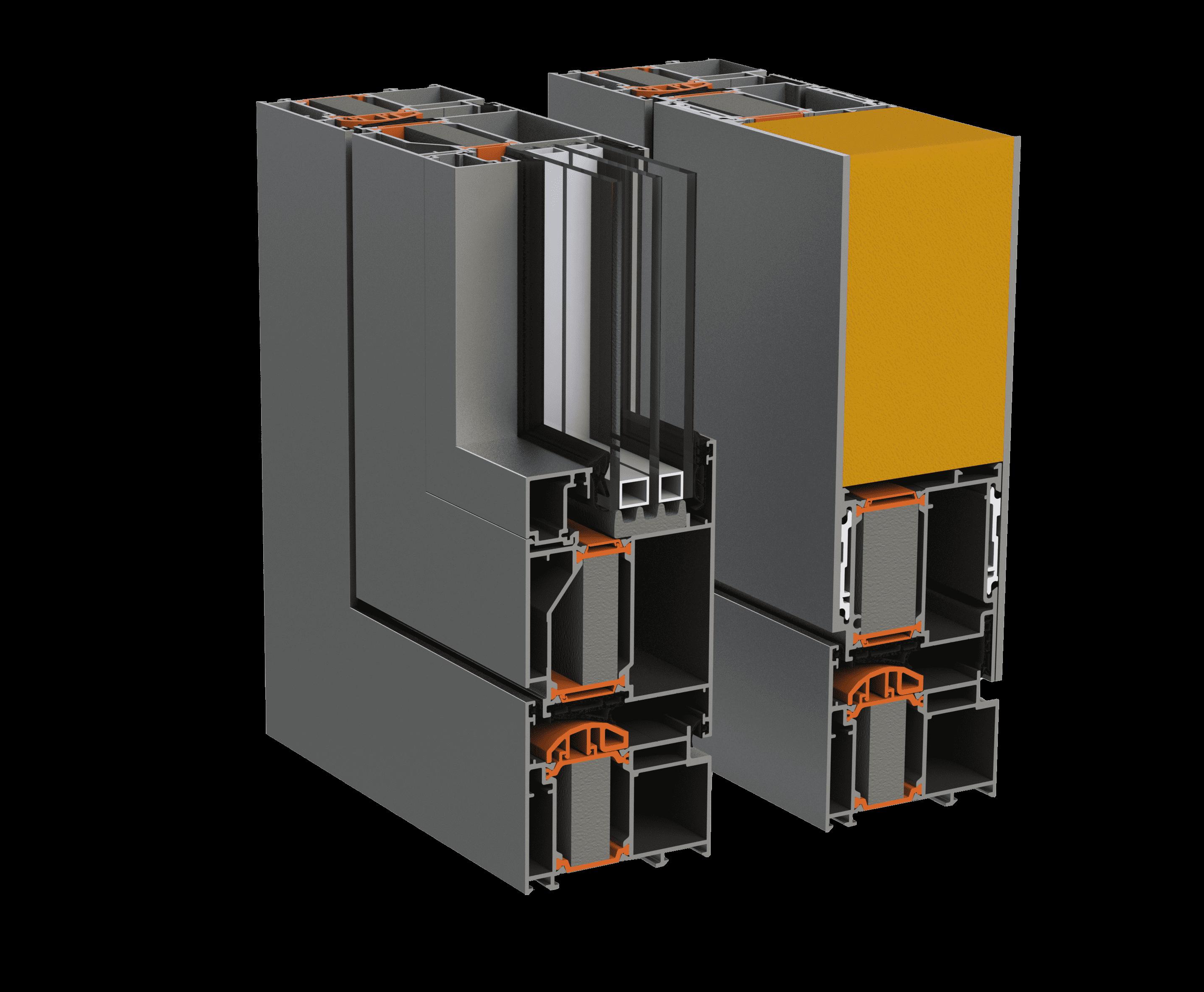 Тепла алюмінієва дверна система alumil SD77 від заводу-виробника EKIPAZH